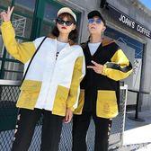 中大尺碼新款情侶外套 秋韓版學生男女寬鬆情侶款原宿bf夾克 QG8566『Bad boy時尚』