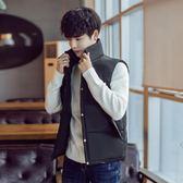 羽絨棉馬甲男冬韓版修身外套馬甲加厚大碼情侶款潮流學生坎肩背心