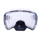 鏡面寬視野 鼻子可以吐氣鋼化玻璃潛水鏡 豬鼻子面罩