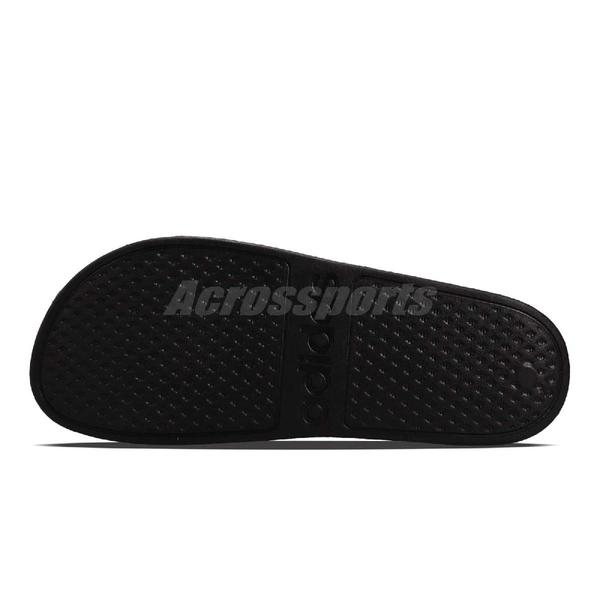 adidas 拖鞋 Adilette Aqua 黑 全黑 運動拖鞋 男鞋 女鞋 防水 涼拖鞋 舒適好穿【ACS】 F35550