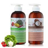 88折!PERTH`S KEY椰子油黑肥皂+蔬果清潔液各500ml