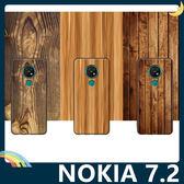 NOKIA 7.2 仿木紋保護套 軟殼 大理石紋 天然復古風 簡約全包款 手機套 手機殼 諾基亞