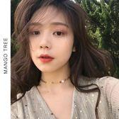 韓國簡約百搭質感小圓片項鏈女鎖骨鏈學生潮人冷淡風脖子飾品【蘇迪蔓】