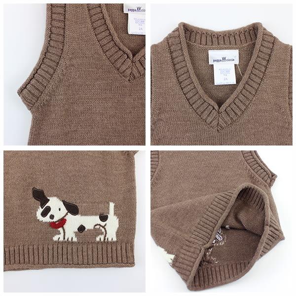 【愛的世界】V領混羊毛背心毛衣/2~4歲-台灣製- ★秋冬上著