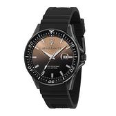 【Maserati 瑪莎拉蒂】SFIDA經典質感矽膠錶帶腕錶-迷霧黑/R8851140001/台灣總代理公司貨享兩年保固