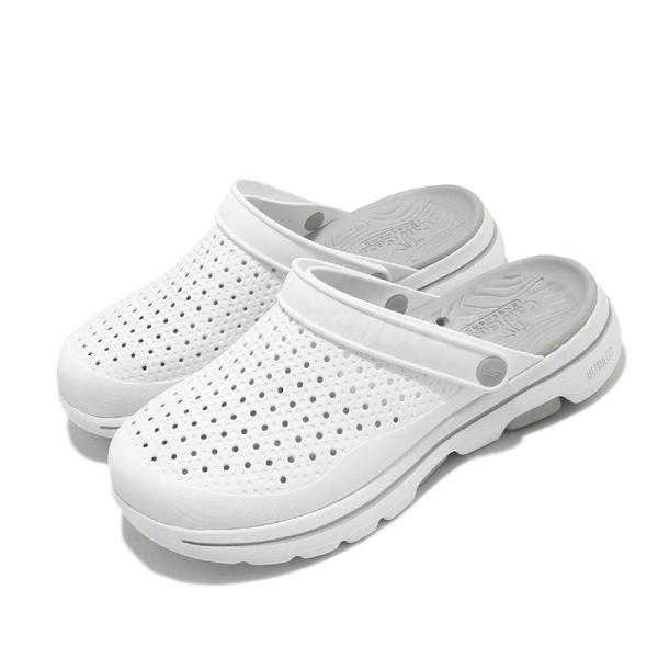 Skechers 涼拖鞋 Go Walk 5-Astonished 白 灰 男鞋 涼鞋 水鞋【PUMP306】 243002WGY