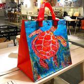 防水裝書拎文件袋子手提買菜環保購物袋女包  百姓公館