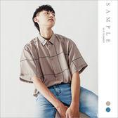 韓國製 雪紡襯衫 大方格【ST20422】- SAMPLE