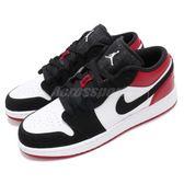 Nike Air Jordan 1 Low GS Black Toe 黑 紅 黑頭 喬丹1代 低筒 女鞋 大童鞋【PUMP306】 553560-116