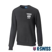 K-SWISS 1966 Sweatshirt圓領長袖上衣-男-黑