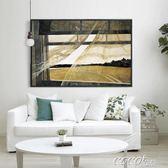 油畫 寫實派世界名畫 海邊的風抽象風景油畫裝飾畫掛畫壁畫 coco衣巷
