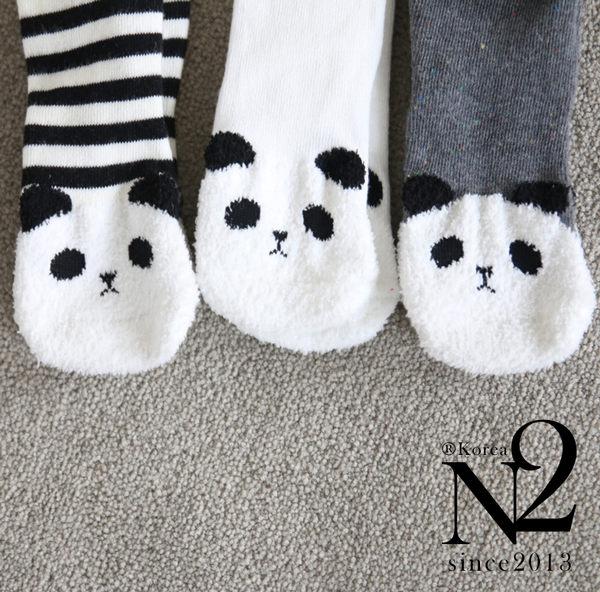 N2  襪子 正韓MINI熊貓襪套