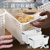 分類整理鏤空收納籃 大號 各種物品分類萬用置物籃 塑膠筐 手提籃子【BE0314】《約翰家庭百貨