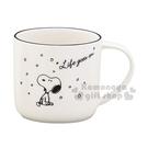 〔小禮堂〕史努比 日製陶瓷馬克杯《白.下雪》咖啡杯.茶杯.YAMAKA陶瓷 4979855-21053