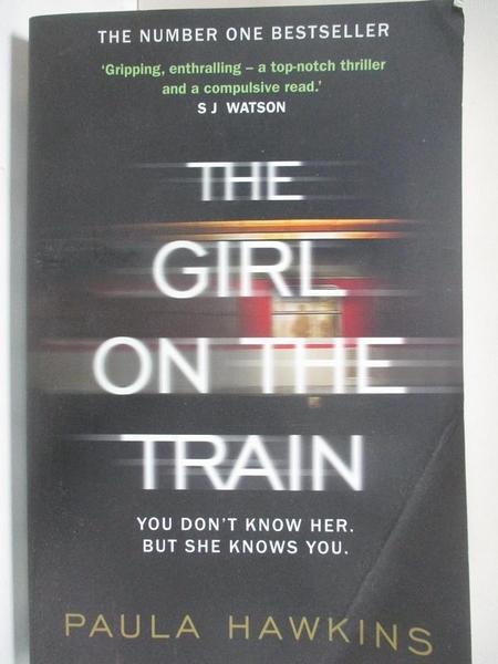 【書寶二手書T2/原文書_DRH】The Girl on the Train_Paula Hawkins