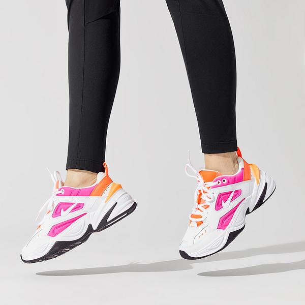 【三月現貨折後$2580】NIKE Wmns M2K Tekno 白 粉紅 老爹鞋 復古 皮革 女鞋 運動鞋 AO3108-104