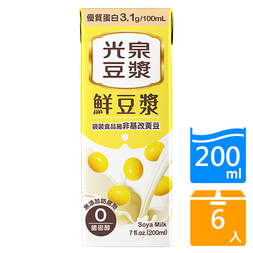 光泉鮮豆漿200ML x6入【愛買】