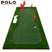 新款POLO 高爾夫果嶺室內練習器推桿練習器 刻度線推桿練習毯球墊