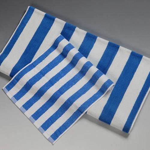 【南紡購物中心】藍白紋地中海風飯店浴巾