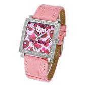 Hello Kitty 晶采都會腕錶(豹紋面)