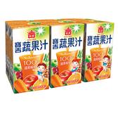 義美寶吉蔬果汁蘋果柳橙125mlx6【愛買】