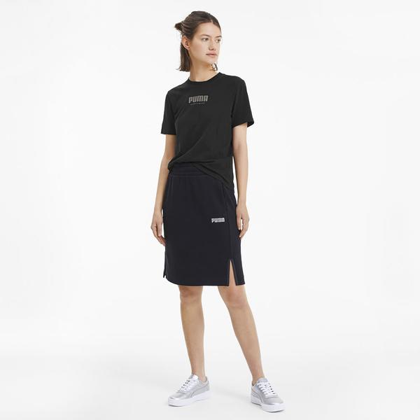 【現貨】PUMA FUSION 女裝 短袖 上衣 休閒 黑 亞規【運動世界】58271001