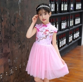 女童禮服中大童表演服中國風民族風旗袍連身裙公主裙古典演出服HT747