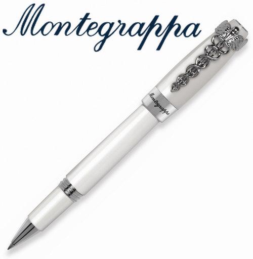 義大利Montegrappa萬特佳 Caduceus財富醫生筆系列 - 鋼珠筆 (白) ISFOMRPH / 支