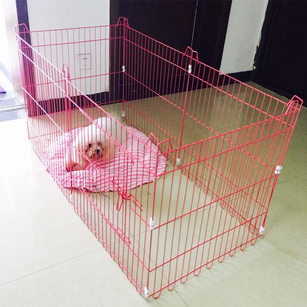 寵物圍欄 送狗窩 寵物折疊圍欄泰迪比熊中小型犬狗籠子狗圍欄兔柵欄jy【雙11八八折】