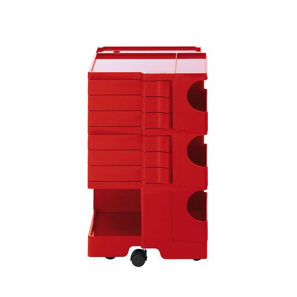 B-Line Boby Storage Trolly System Mod.M H73.5cm 巴比 多層式系統 收納推車 - 高尺寸 (六抽屜收納) 紅色款