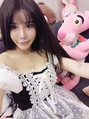 夜店性感女裝甜美日系可愛少女吊帶蘿莉洋裝一字肩名媛主播洋裝 【PINKQ】