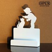 OPUS 歐式鐵藝名片座/名片架/商務名片盒(童伴_優雅白)