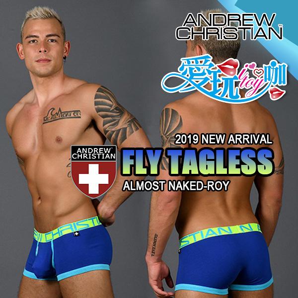 【紅/藍】美國 Andrew Christian 飛行系列赤裸囊袋四角褲 Fly Tagless with Almost Naked