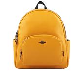 【COACH】Court 荔枝皮革口袋後背包(黃棕色) 5666 QBRM1