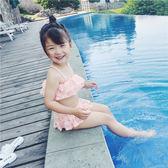 泳裝 女童泳衣2-3-4-5-6歲女寶寶分體游泳衣中大童小女孩公主裙式泳裝 {優惠兩天}