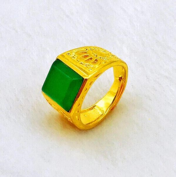 越南沙金男女士24K仿真假黃金純金色戒指鍍金久不掉色999首飾【快速出貨】
