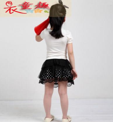 衣童趣 ♥可愛波點紡紗 蛋糕裙 蝴蝶結甜美半身裙 女童必備單品【三碼兩色】