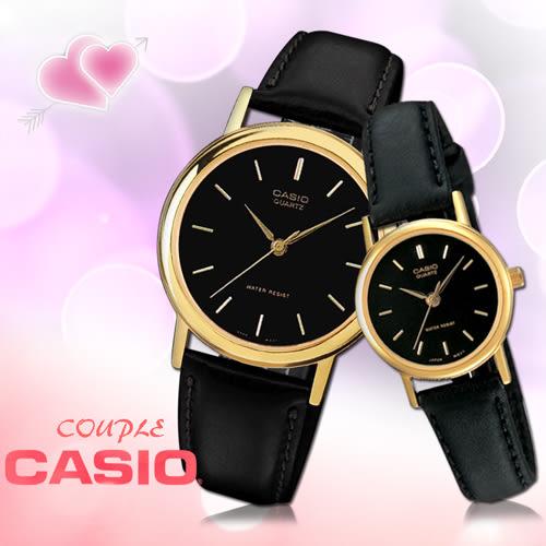 CASIO卡西歐 手錶專賣店 MTP-1095Q+LTP-1095Q 氣質對錶 防刮礦物玻璃 防水30米 指針 數字 耐磨皮革錶帶