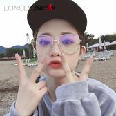 復古眼鏡框韓版女潮大框文藝平光鏡圓臉眼鏡架·花漾美衣