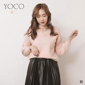 東京著衣【YOCO】戀戀甜美珍珠點綴V領毛衣(191796)
