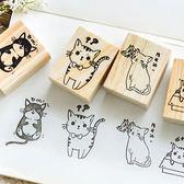 【BlueCat】求抱抱萌猫系列木質印章 手帳印章 (3.5*4.5cm)