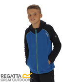 【REGATTA 英國 兒童 亞佛170刷毛保暖衣《藍/海軍藍》】RKA185/透氣快乾/連帽外套/運動夾克★滿額送