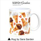 客製 手作 彩繪 馬克杯 Mug 手繪 水彩 愛心 甜筒 冰淇淋 咖啡杯 陶瓷杯 杯子 杯具 牛奶杯 茶杯