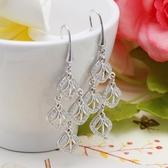耳環 925純銀鑲鑽-時尚亮眼生日情人節禮物女飾品2色73dm134【時尚巴黎】