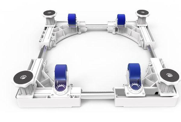 置物架洗衣機墊洗衣機底座加粗加厚冰箱底座腳架通用可移動萬向輪igo