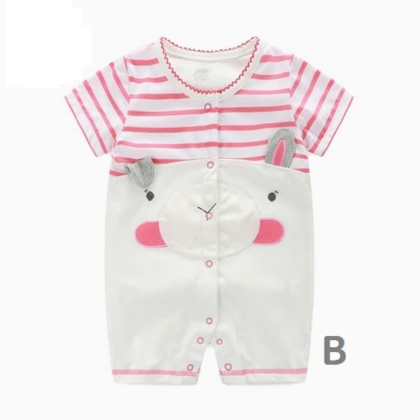 嬰兒短袖連身衣 立體動物 寶寶童裝 春夏棉質嬰兒服 CAR22342 好娃娃
