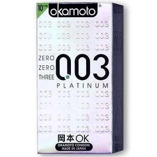 日本岡本★003白金版衛生套 10入★標準