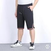 大碼五分褲 夏寬鬆潮胖子加肥加大男士休閒運動短褲【愛物及屋】