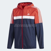 adidas 連帽外套 WB Classic 紅 白 藍 防風夾克 運動款 男款 【ACS】 DH3997