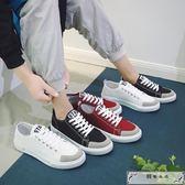 春季帆布鞋男經典韓版百搭低幫原宿學生休閑小白鞋運動板鞋男潮流